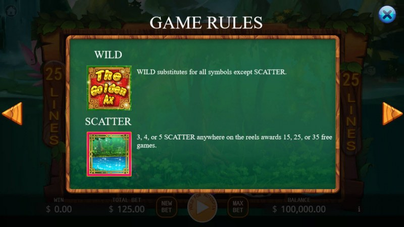 The Golden Ax :: Wild and Scatter Rules