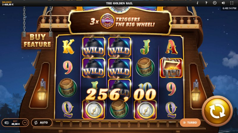 The Golden Sail :: Multiple winning paylines