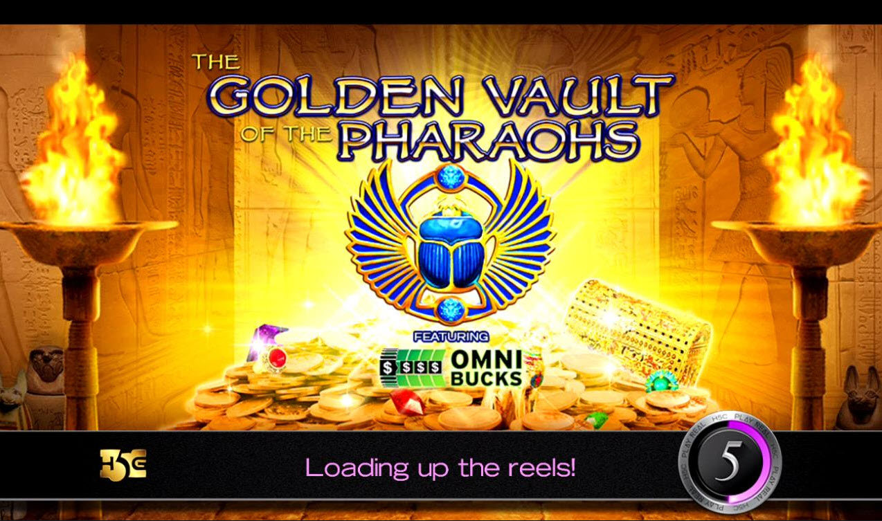 Play slots at Queen Vegas: Queen Vegas featuring the Video Slots The Golden Vault of the Pharaohs with a maximum payout of $150,000