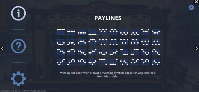 The Good The Bad and the Wild :: Paylines 1-40