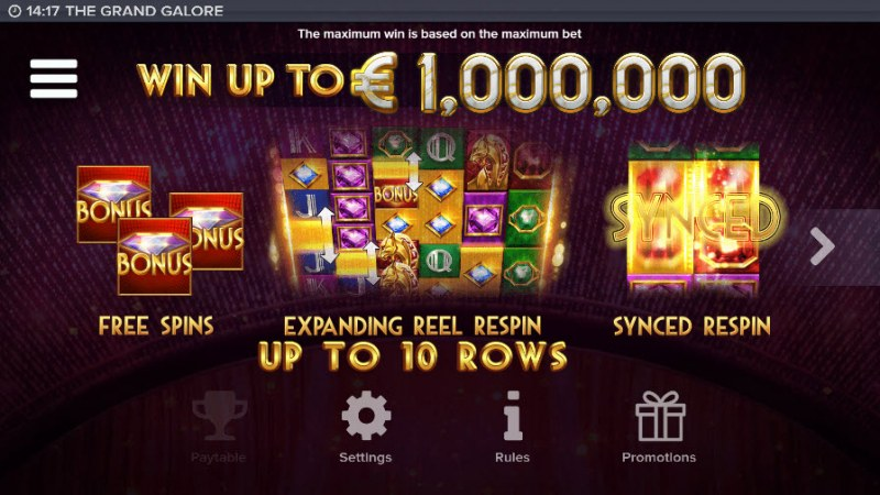 The Grand Galore :: Win Up To $1,000,000