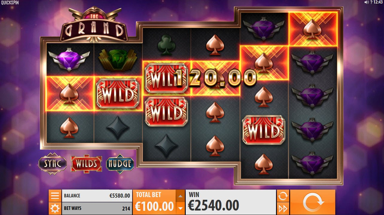 The Grand :: Wild feature triggers multiple winning paylines