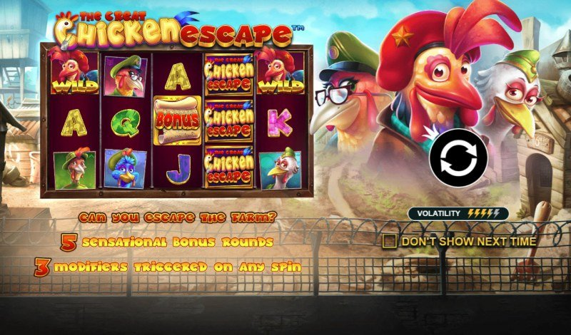 Play slots at Crystal Casino Club: Crystal Casino Club featuring the Video Slots The Great Chicken Escape with a maximum payout of $50,000