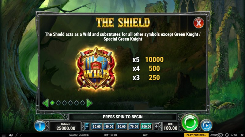 The Green Knight :: Wild Symbol Rules