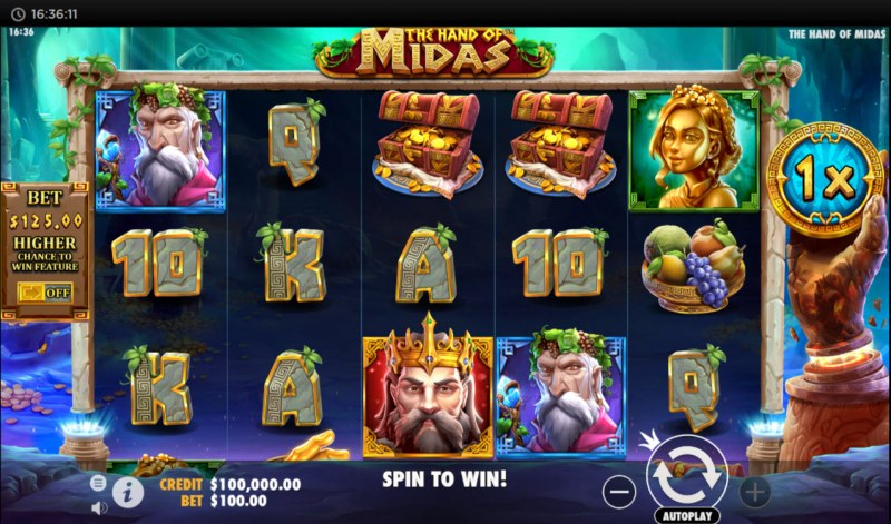 The Hand of Midas :: Main Game Board