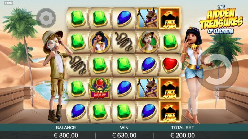 The Hidden Treasures of Cleopatra :: Multiple winning combinations