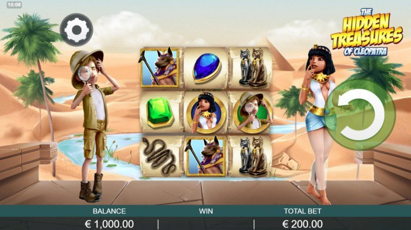 Play slots at Amsterdam Casino: Amsterdam Casino featuring the Video Slots The Hidden Treasures of Cleopatra with a maximum payout of $1,567,000