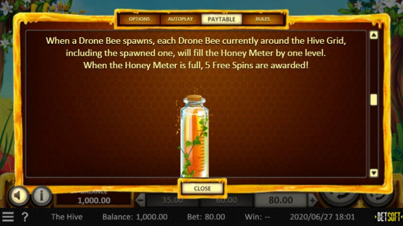 The Hive :: Free Spins Rules