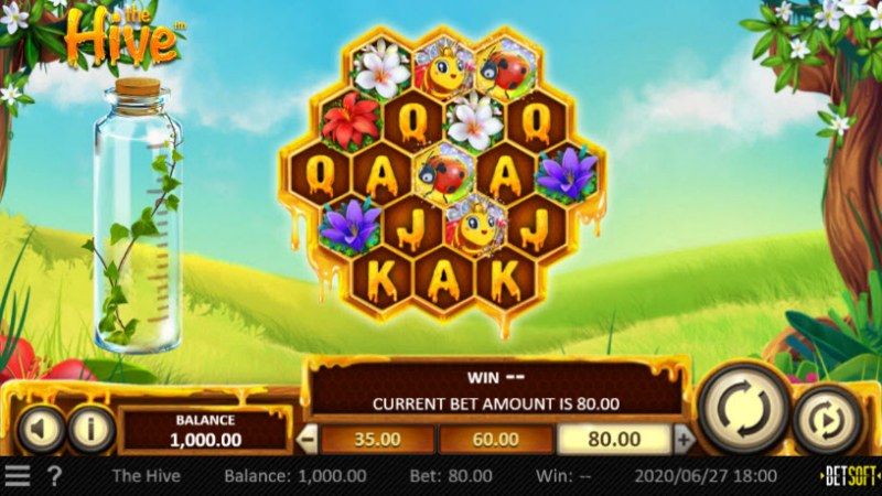 Play slots at MyBcasino: MyBcasino featuring the Video Slots The Hive with a maximum payout of $30,240