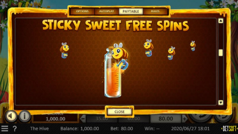 The Hive :: Sticky Sweet Free Spins