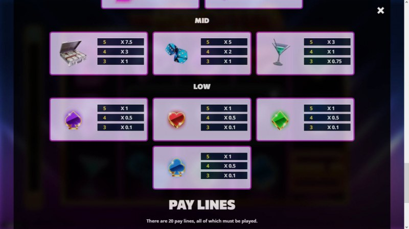 The Hot Offer :: Paytable - Low Value Symbols