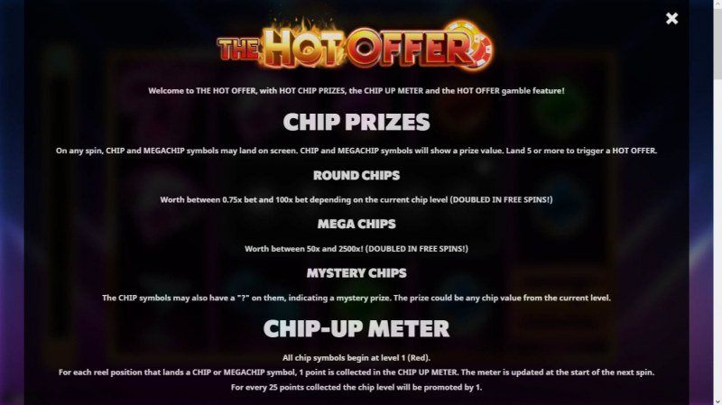 The Hot Offer :: Feature Rules