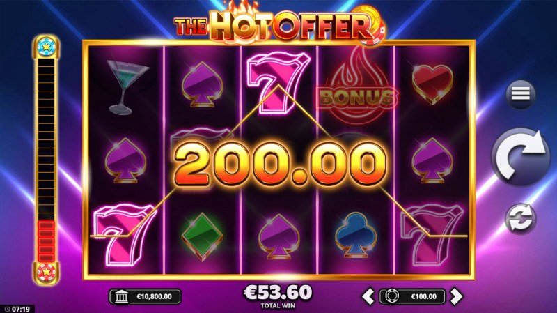 The Hot Offer :: A three of a kind win