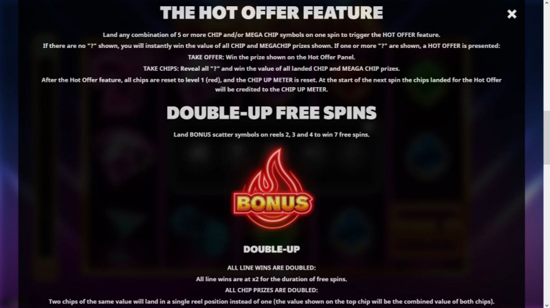 The Hot Offer :: Free Spin Feature Rules