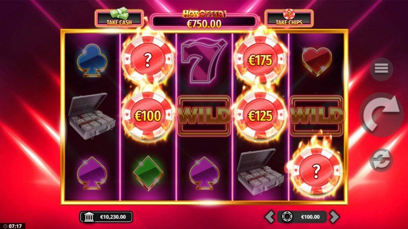 The Hot Offer :: Landing five or more chips triggers Hot Offer feature