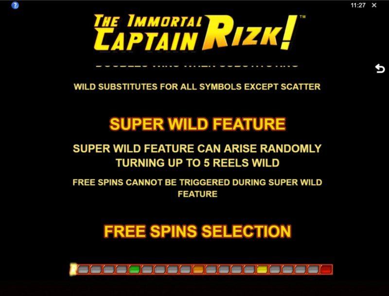 The Immortal Captain Rizk! :: Super Wild Feature