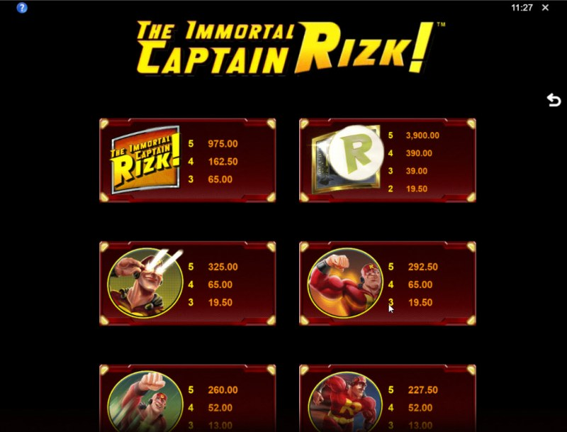 The Immortal Captain Rizk! :: Wild and Scatter Rules