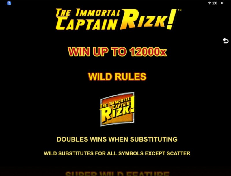 The Immortal Captain Rizk! :: Win Up To 12000x