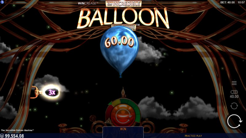 The Incredible Balloon Machine :: A random multiplier is awarded