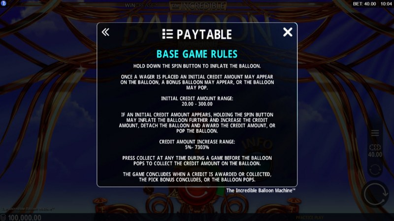 The Incredible Balloon Machine :: Basic Game Rules