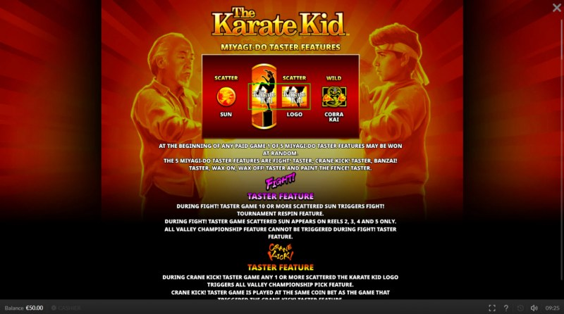The Karate Kid :: Feature Rules