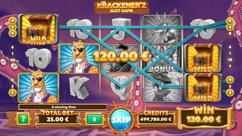 The Krackener'z :: Free Spins Game Board