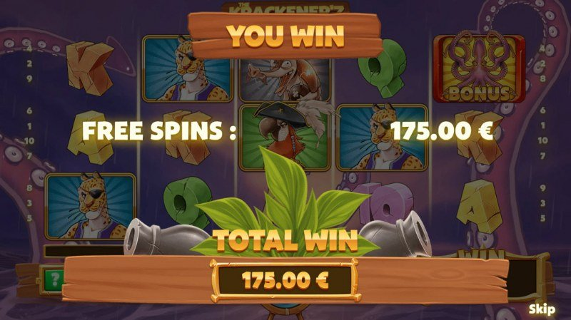 The Krackener'z :: Total free spins payout