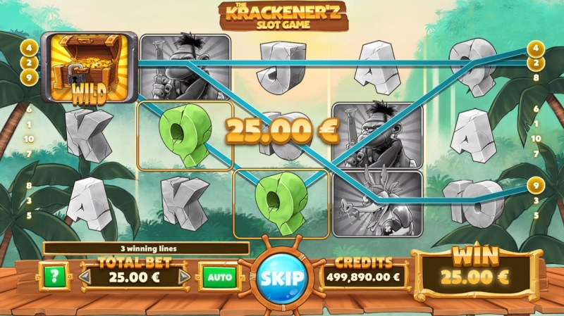 The Krackener'z :: Multiple winning paylines