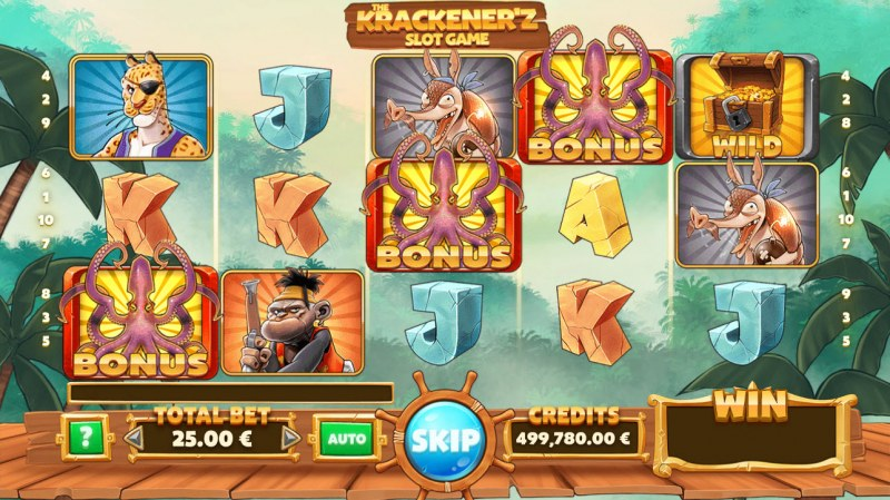 The Krackener'z :: Scatter symbols triggers the free spins feature