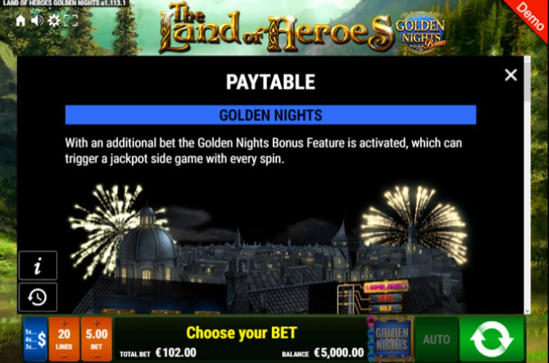 The Land of Heroes Golden Nights Bonus :: Golden Nights Bonus