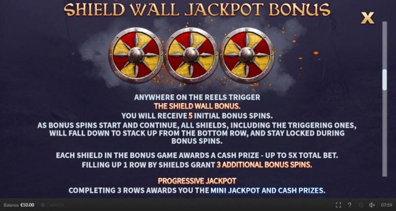 The Last Kingdom :: Jackpot Bonus Rules