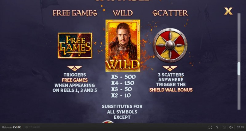 The Last Kingdom :: Wild and Scatter Rules