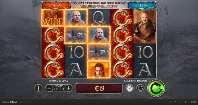 The Last Kingdom :: Multiple winning paylines
