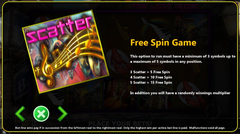 The Lost Magic :: Free Spins Rules