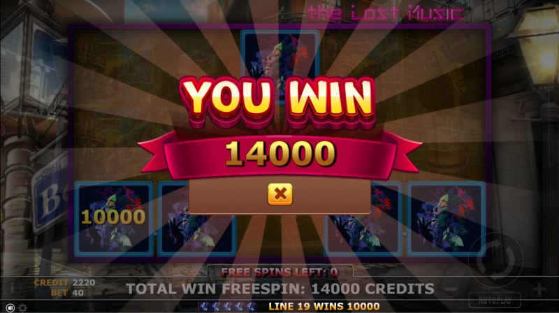 The Lost Magic :: Total free spins payout