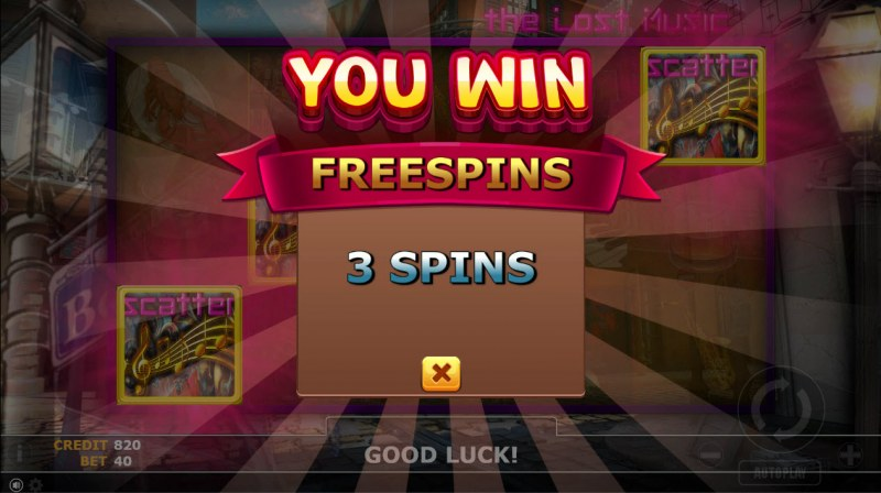 The Lost Magic :: 3 free spins awarded