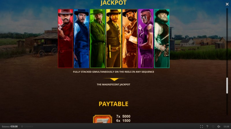 The Magnificent Seven :: Jackpot Rules