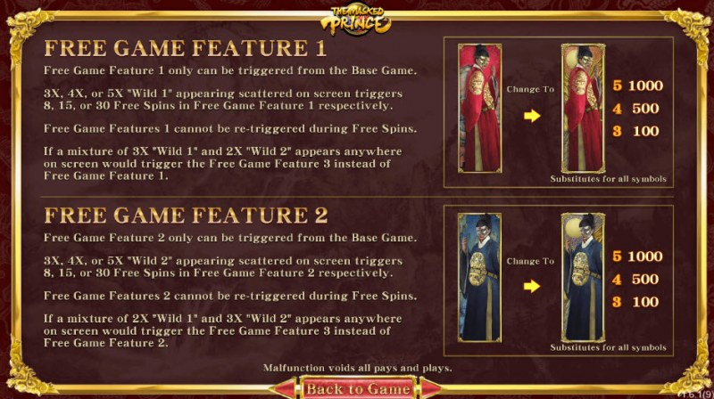 The Masked Prince :: Free Spins Rules