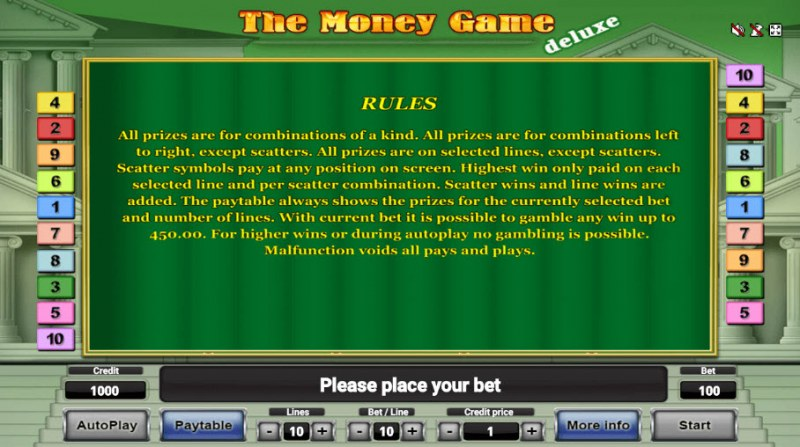 The Money Game Deluxe :: General Game Rules
