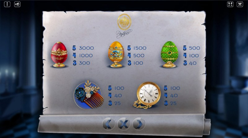 The Mystery of Faberge :: Paytable - High Value Symbols