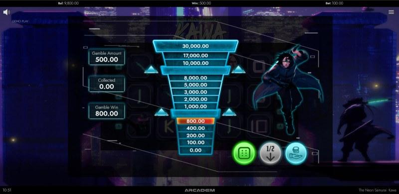 The Neon Samurai Kawa :: Ladder gamble feature