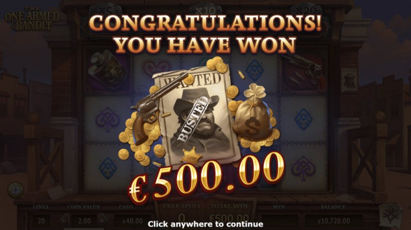 The One Armed Bandit :: Total free spins payout