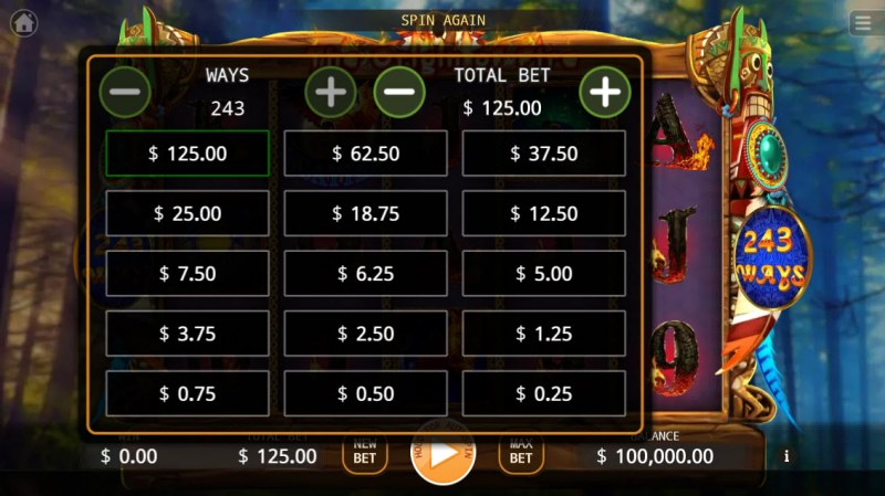The Origin of Fire :: Available Betting Options