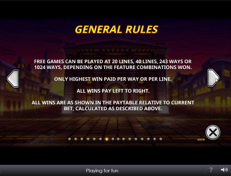The Perfect Heist :: General Game Rules