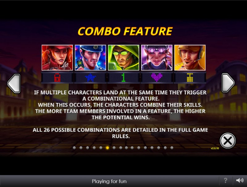The Perfect Heist :: Combo Feature