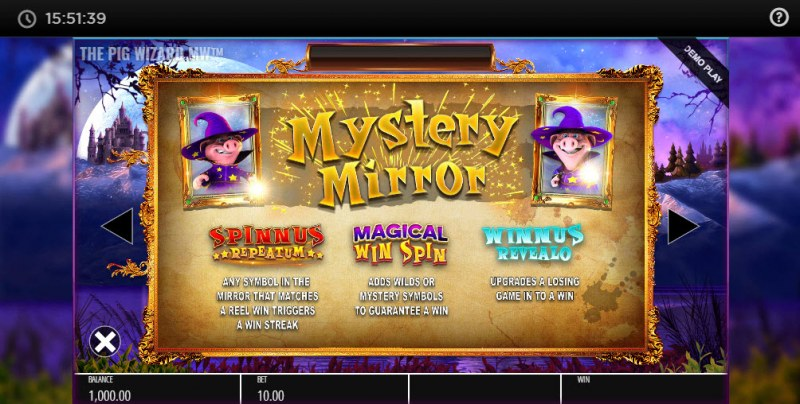 The Pig Wizard Megaways :: Mystery Mirror Feature