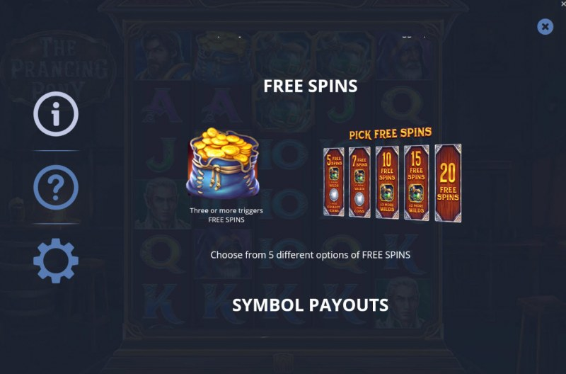 The Prancing Pony :: Free Spins Rules