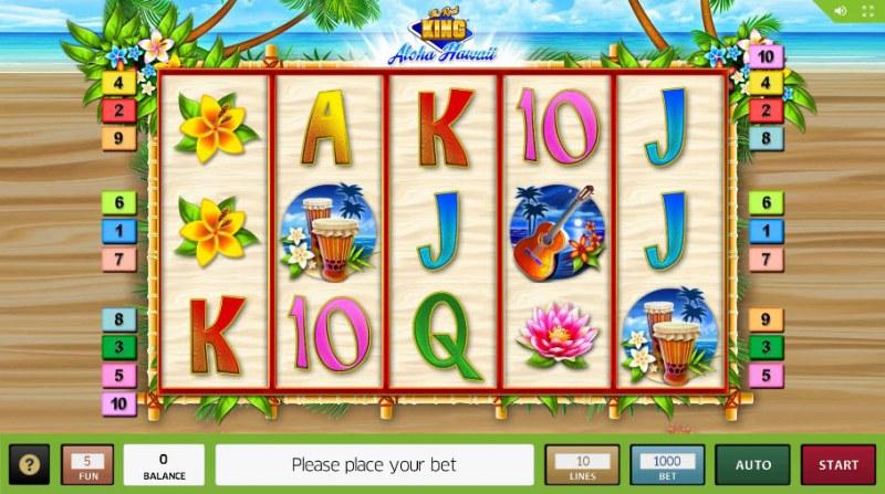 The Reel King Aloha Hawaii :: Main Game Board