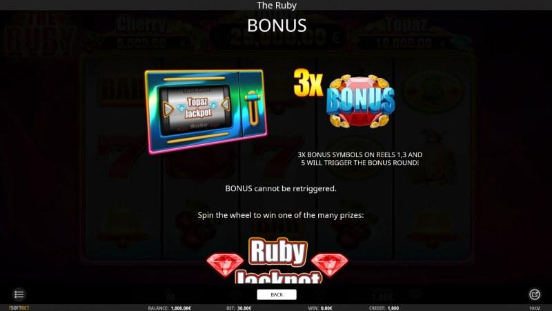 The Ruby :: Bonus Game Rules
