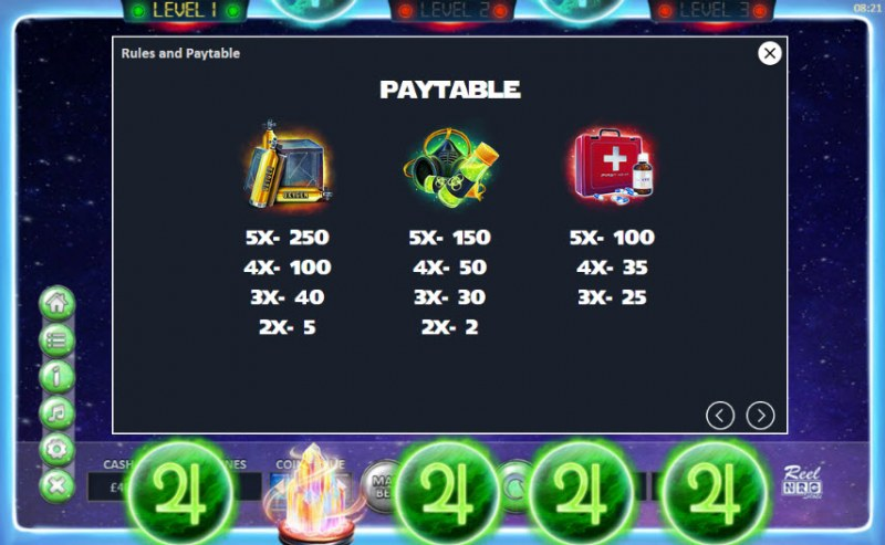 The Space Game :: Paytable - High Value Symbols
